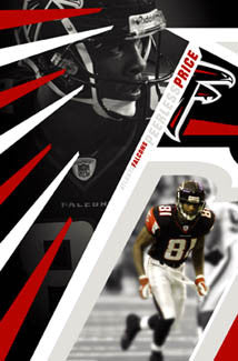"Peerless Price ""Falcons Flash"" Atlanta Falcons Poster - Costacos 2004"