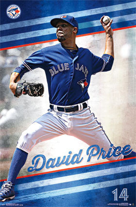 "David Price ""Brilliant in Blue"" Toronto Blue Jays MLB Action Poster - Trends International 2015"