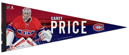 Carey Price Montreal Canadiens Signature Series Official NHL Hockey Premium Felt Pennant - Wincraft