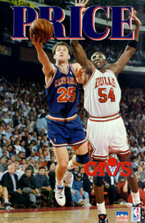 "Mark Price ""Battle the Bulls"" Cleveland Cavaliers Poster - Starline 1993"