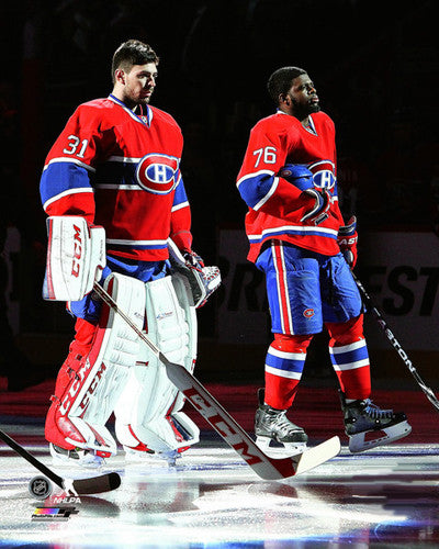 "Carey Price and PK Subban ""O Canada"" Montreal Canadiens Premium Poster Print - Photofile 16x20"