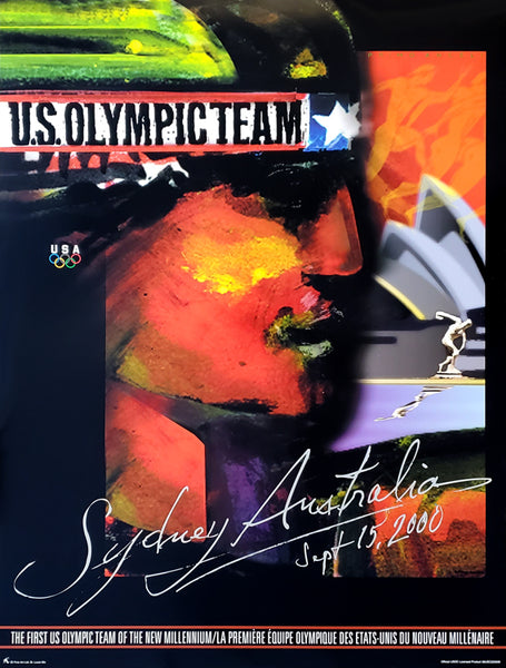 Sydney 2000 Olympic Games Official US Olympic Team Commemorative Wall Poster Print by Primo Angeli - Fine Art Ltd.