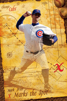 "Mark Prior ""X"" Chicago Cubs Poster - Costacos 2004"