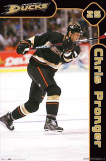 "Chris Pronger ""Superstar"" Anaheim Ducks NHL Action Poster - Costacos 2007"