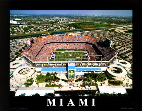 Miami Dolphins Sun Life Stadium Gameday Aerial View Poster