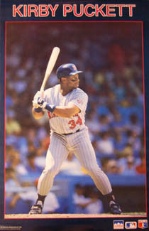"Kirby Puckett ""Classic"" Minnesota Twins Poster - Starline 1987"