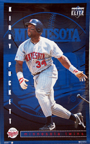 "Kirby Puckett ""Elite"" Minnesota Twins Poster - Costacos Brothers 1995"