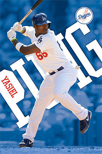 "Yasiel Puig ""Masher"" L.A. Dodgers MLB Action Poster - Costacos Sports 2013"