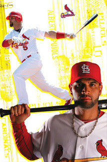 "Albert Pujols ""Power & Pride"" St. Louis Cardinals Poster - Costacos 2010"