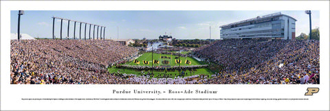 Purdue Football Ross-Ade Stadium Gameday Panoramic Poster Print - Blakeway 2017