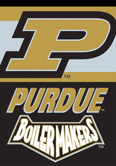 "Purdue Boilermakers ""Old Gold & Black"" Banner - BSI Products"