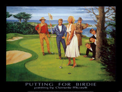 "Golfing Hollywood Legends ""Putting for Birdie"" Premium Poster Print by Clemente Micarelli"