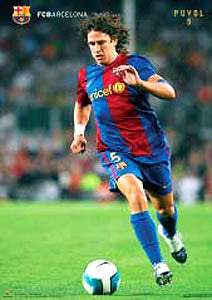 "Carles Puyol ""Action"" FC Barcelona Official Poster - CPG 2007"