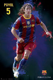"Carles Puyol ""SuperAction"" FC Barcelona Poster (2010/11) - G.E. (Spain)"