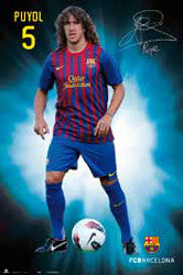 "Carles Puyol ""Signature Series"" FC Barcelona 2011/12 Poster - G.E. (Spain)"