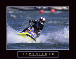 "Jet Ski Racing ""Experience"" Motivational Poster - Front Line"