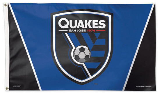 San Jose Earthquakes Official MLS Soccer DELUXE 3' x 5' Flag - Wincraft Inc.