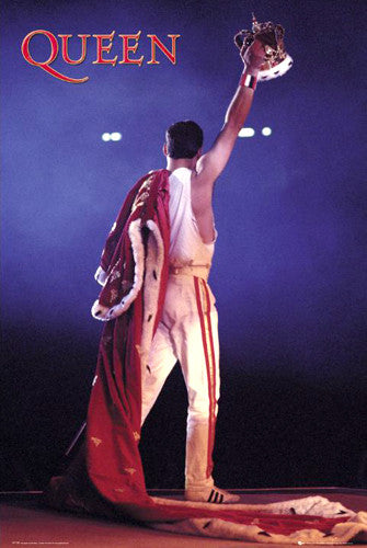 "Queen Freddie Mercury ""Crown"" Concert Poster - GB Eye (UK)"