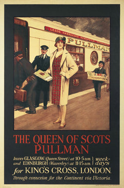 The Queen of Scots Pullman Train Vintage c.1935 Poster Reprint