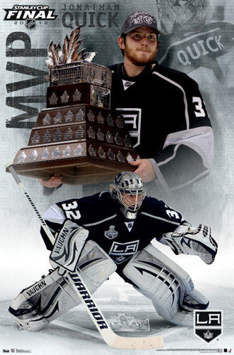 Jonathan Quick 2012 Stanley Cup Finals MVP Conn Smythe Winner Commemorative Poster