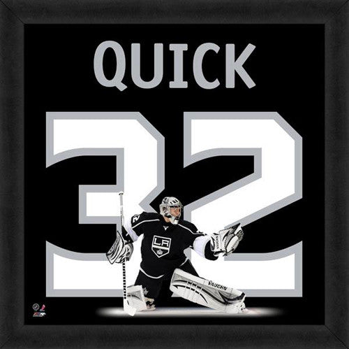 "Jonathan Quick ""Number 32"" Los Angeles Kings FRAMED 20x20 UNIFRAME PRINT - Photofile"