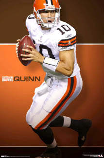 "Brady Quinn ""QB Action"" Cleveland Browns Poster - Costacos 2007"