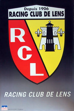 Racing Club de Lens Ligue 1 Official Team Logo Crest Soccer Poster - Starline Inc.