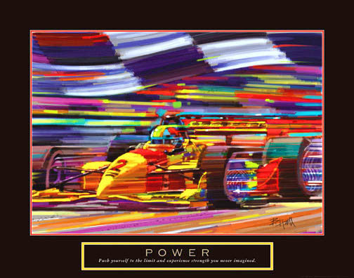 "Auto Racing ""Power"" Motivational Poster (Formula 1) - Front Line"