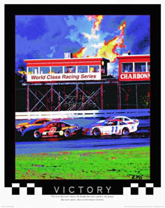 "Stock Car Racing ""Victory"" Motivational Poster - Front Line"