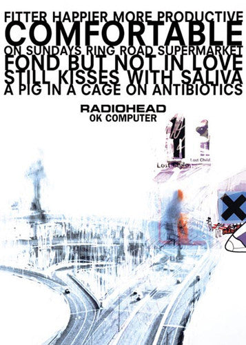 Radiohead OK Computer Album Cover Poster - Pyramid (UK)