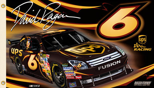 "David Ragan ""Ragan Nagtion"" 3'x5' Giant NASCAR Banner Flag (2009)"