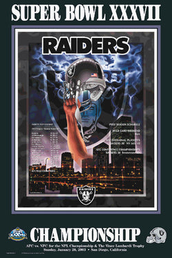"Oakland Raiders ""Super Season 2002"" Super Bowl XXXVII Poster - Action Images"