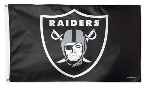 Oakland Raiders Official NFL Football DELUXE-EDITION Team 3'x5' Flag - Wincraft Inc.