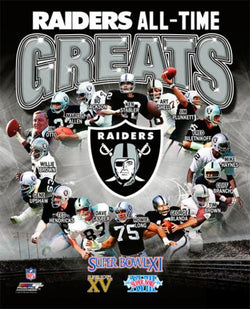 "Oakland Radiers ""All-Time Greats"" (16 Legends, 3 Super Bowls) Premium Poster Print - Photofile Inc."