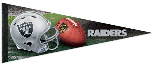 Oakland Raiders Helmet-Style NFL Football Team Premium Felt Collector's PENNANT - Wincraft