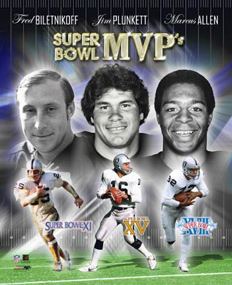 Oakland Raiders Super Bowl MVPs Commemorative Premium Poster Print - Photofile Inc.