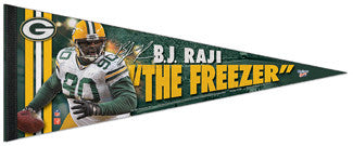 "B.J. Raji ""The Freezer"" Signature Premium Felt Collector's Pennant"
