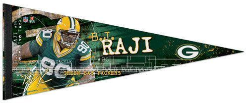 "B.J. Raji ""Superstar"" Green Bay Packers Signature Premium Felt Collector's Pennant - Wincraft"