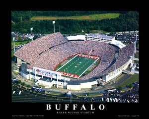 "Buffalo Bills Ralph Wilson Stadium ""From Above"" Premium Poster Print - Aerial Views"