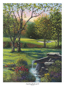 "Golf Course Art ""Rambling Brook at #17"" (Tour 18) Poster - Bentley House"