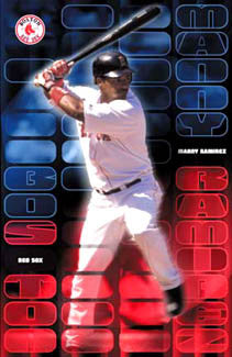 "Manny Ramirez ""Power"" Boston Red Sox Poster - Costacos 2001"
