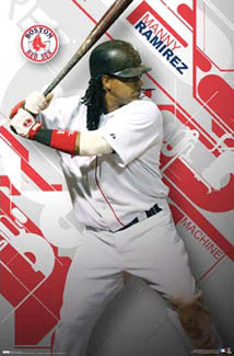 "Manny Ramirez ""Machine""  Boston Red Sox MLB Action Poster - Costacos 2008"