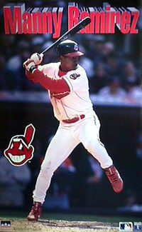 "Manny Ramirez ""Action"" Cleveland Indians Poster (1996) - Starline Inc."