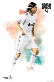 "Sergio Ramos ""SuperAction"" (2010/11) Real Madrid Poster - G.E. (Spain)"