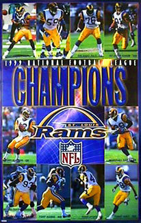 "St. Louis Rams ""Champions"" Super Bowl Commemorative Poster - Costacos 2000"