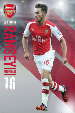 "Aaron Ramsey ""Superstar"" Arsenal FC Soccer Superstar Action Poster - GB Eye 2015"