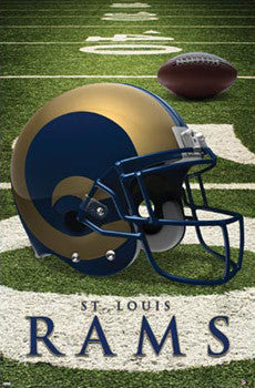St. Louis Rams Official NFL Helmet Logo Poster - Costacos Sports