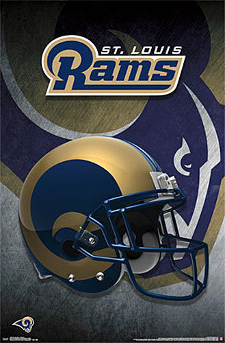 St. Louis Rams Official NFL Team Helmet Logo Wall Poster - Trends International