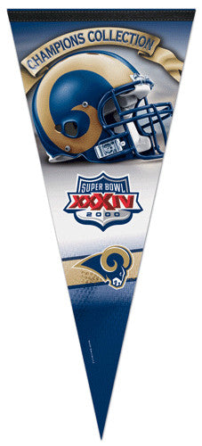 St. Louis Rams Super Bowl XXXIV Champions EXTRA-LARGE Premium Pennant