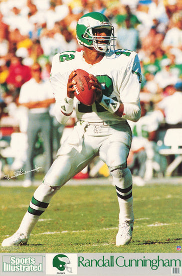 Randall Cunningham Sports Illustrated Signature Series Philadelphia Eagles Poster - Marketcom Inc. 1990